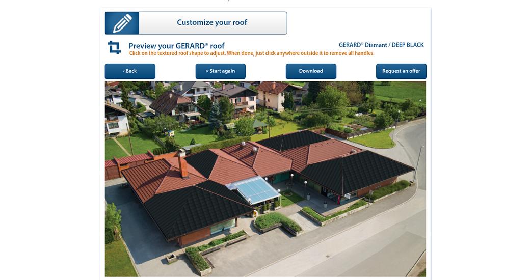 Посмотрите, как будет выглядеть ваш дом с крышей GERARD!